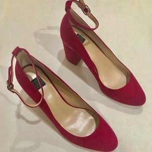 White House Black Market Shoes - 🌷 WHBM Suede Ankle Strap Shoe Size 9.5 NEW 🌷